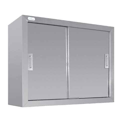 stainless steel wall cabinets kitchen vogue stainless steel wall cupboard sliding doors kitchen