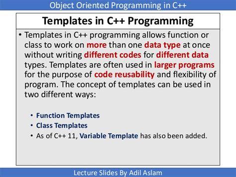 C Template Templates In C