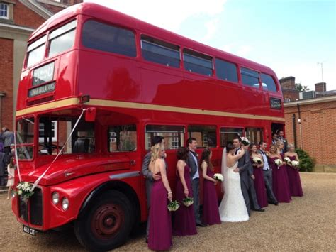 Red Routemaster Wedding Bus In