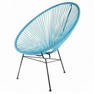 Fauteuil de jardin design scoobidoo couleur ble achat for Fauteuil terrasse design