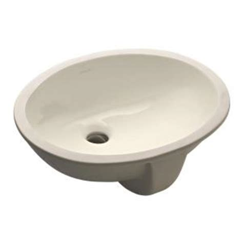Kohler Caxton Sink Home Depot by Kohler Caxton Undermount Bathroom Sink In Biscuit K 2209
