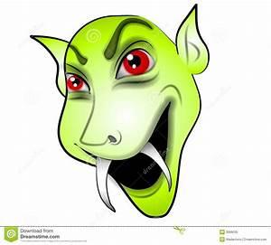 Cartoon Vampire Face Green Royalty Free Stock Photo ...