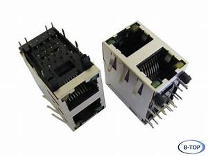 2x1 Stacked Rj45 Connector With Leds - Rj45 Jack 59 Series
