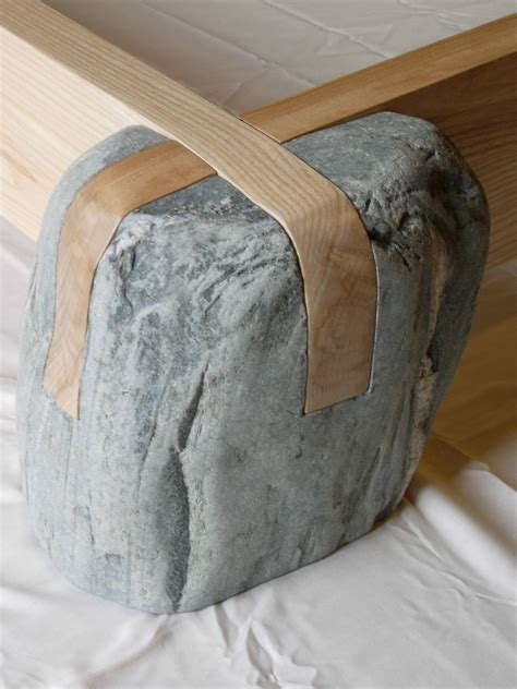 wooden stone japanese joinery chair table