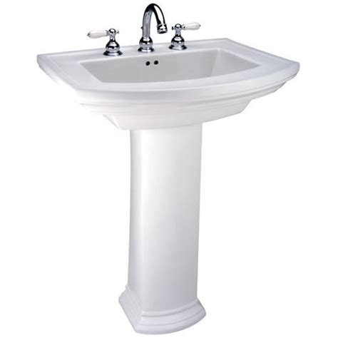 Menards White Pedestal Sink by Mansfield Barrett Pedestal Bathroom Sink 8 Quot Faucet