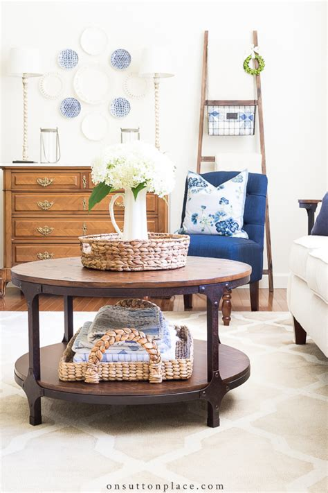 Choose from smart features and storage solutions. Simple Round Coffee Table Styling Ideas   On Sutton Place