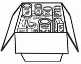 Clipart Bank Coloring Cliparts Pantry Library Canned sketch template