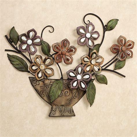 autumn melody floral metal wall sculpture