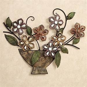 Autumn melody floral metal wall art sculpture