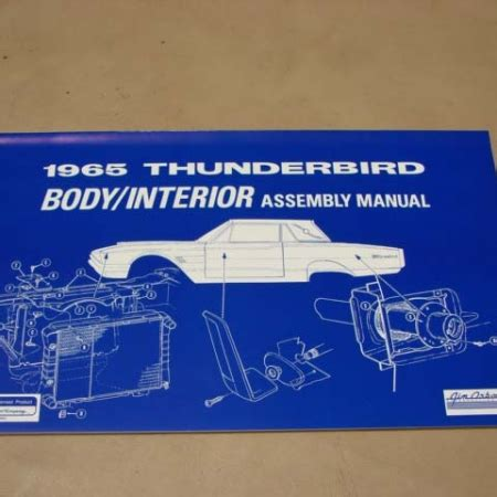 ford thunderbird literature  manuals archives