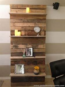 Shelves Made with Wood Pallets Pallet Wood Projects