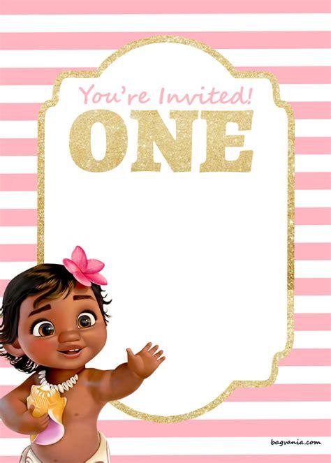 moana invitation template free printable disney princess 1st birthday invitations templates bagvania free printable