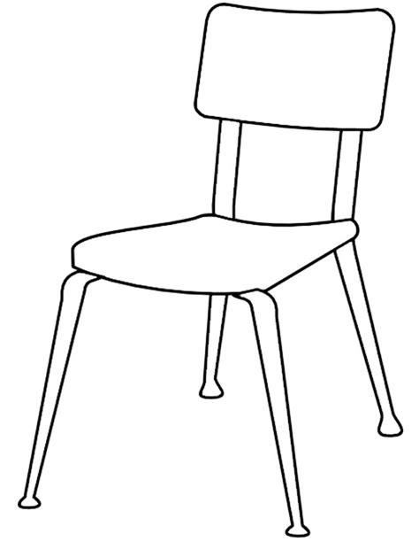 dessin de chaise en perspective coloriage chaise à imprimer gratuitement