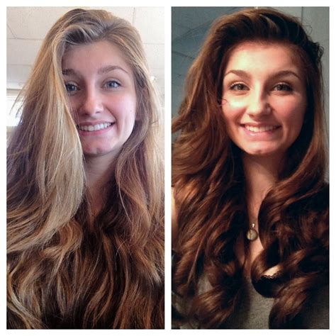 Before And After Of My Cute Client Strawberry Blonde
