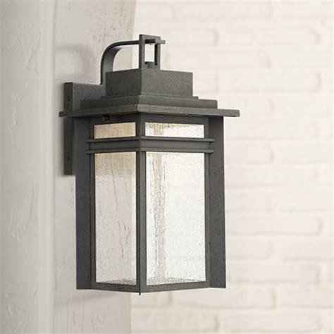 quoizel beacon 16 3 4 quot high black led outdoor wall light