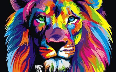 Cool Gta 5 Wallpapers Lion Colorful Abstract Wallpapers Hd Desktop And Mobile Backgrounds