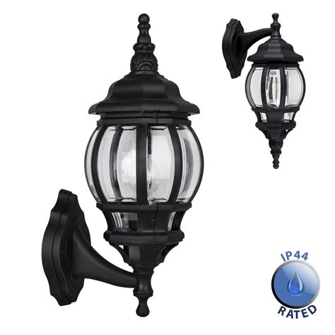 large black ip44 outdoor garden outside wall light l