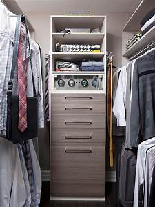 Men Closet Design with Melamine Dresser - Transitional