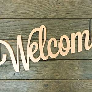 Welcome, Wood, Sign, Letters
