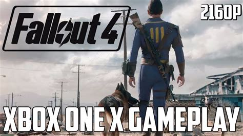 fallout 4 xbox one x gameplay pre enhanced patch