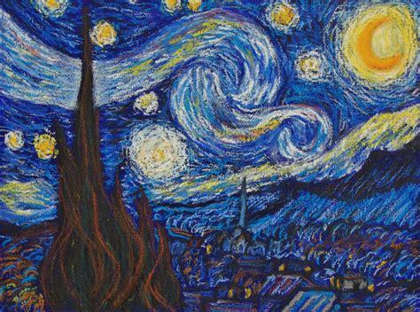 Van Gogh Starry Night in Sennelier oil pastels