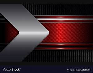 Geometric black background with a textured red Vector Image