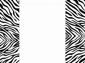 Zebra Border Template - Cliparts.co