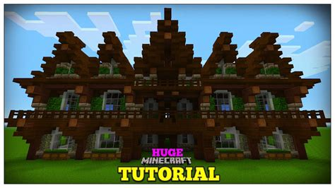 minecraft   build  medieval house medieval mansion tutorial huge  youtube