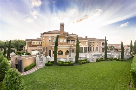 majestic venetian style mansion  texas idesignarch
