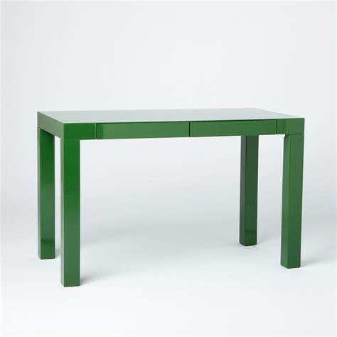 parson desk west elm parson s desk with drawers spruce green modern desks
