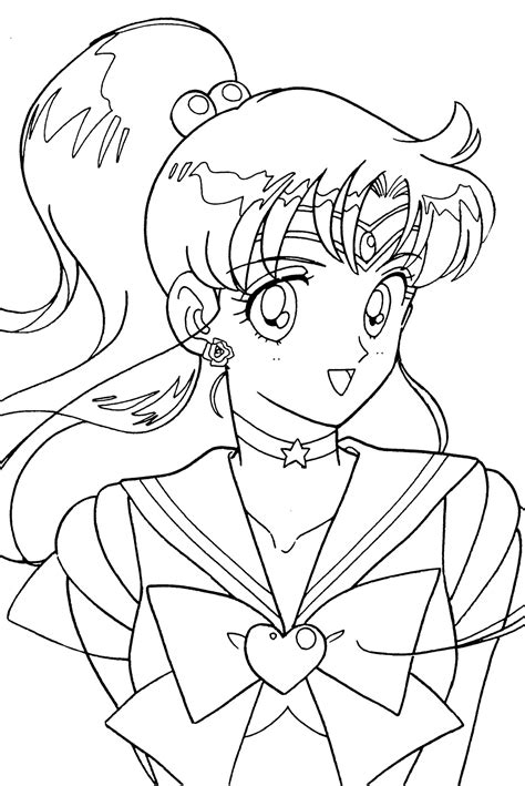 Coloring Drawing tsuki matsuri the sailormoon coloring book archive