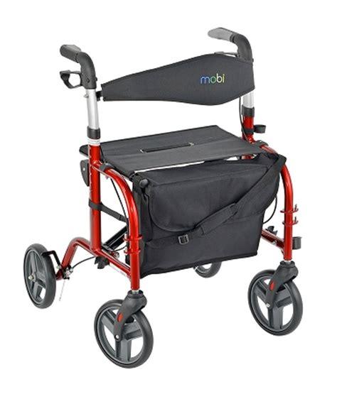 Best Rollator Transport Chair by Juvo Mobi Folding Rollator Transport Chair Caregiver