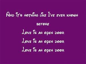 Frozen-Love Is An Open Door Lyrics - YouTube