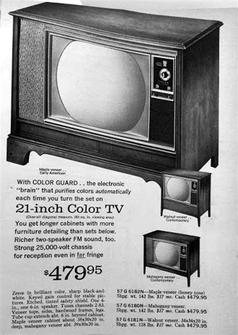 when did color tv began more memories