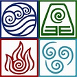 """Four Elements Symbol Avatar"" Art Prints by Daljo 