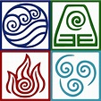 """Four Elements Symbol Avatar"" Metal Prints by Daljo ..."