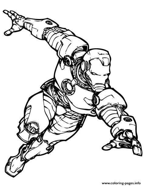 marvel comics iron man coloring pages printable
