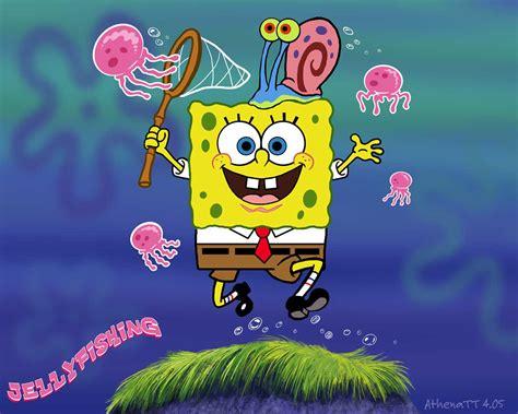 Spongebob Jellyfishing By Athenatt On Deviantart