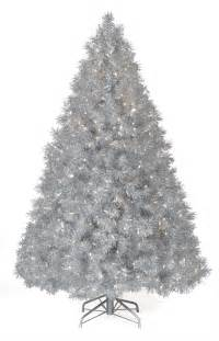 7 5 ft silver tinsel tree clear lit tree tree market