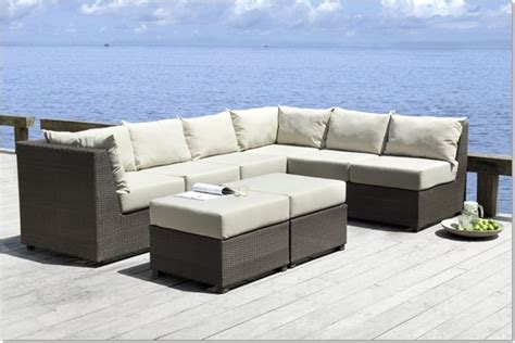 Outdoor Sectional Sofa Set by Zenna Outdoor Sectional Sofa Set Modern Outdoor Lounge