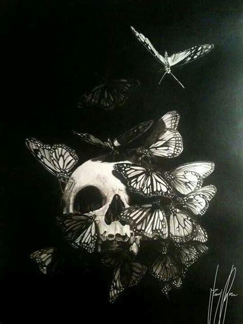 Dark Art Skull Butterflies Skulls Bones