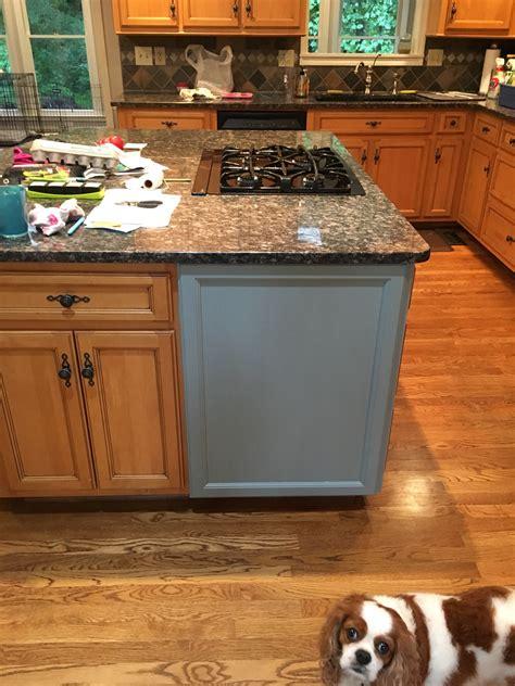 kitchen island kitchen desk  halcyon blue snow white general finishes design center