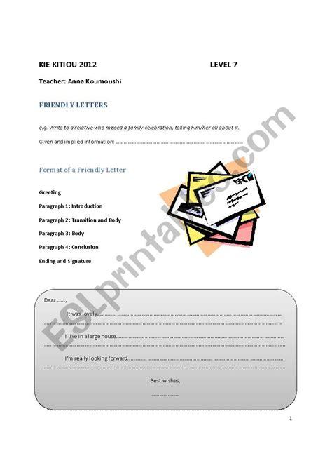igcse friendly letters  narratives esl worksheet