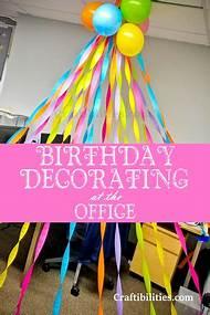 Office Desk Birthday Decorations