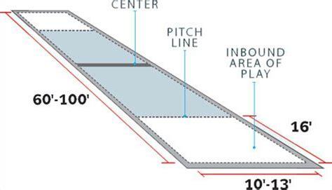 bocce court size pin horseshoe pit dimensions diagram on pinterest