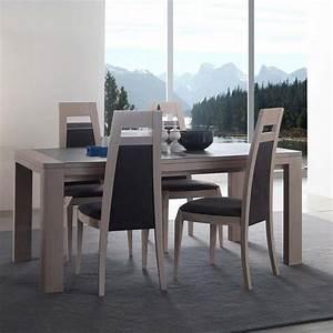 salle a manger moderne marina en chene meubles bois massif With salle À manger contemporaineavec mobilier table salle À manger