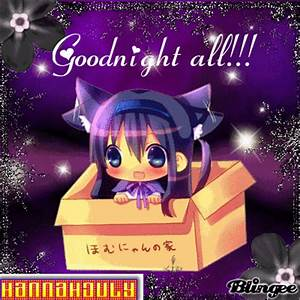 Purple Anime Chibi - Goodnight all!! Picture #131433352 ...
