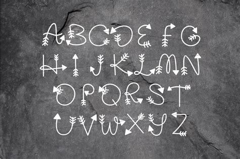 arrow monogram  hand lettered monogram font sofontsy