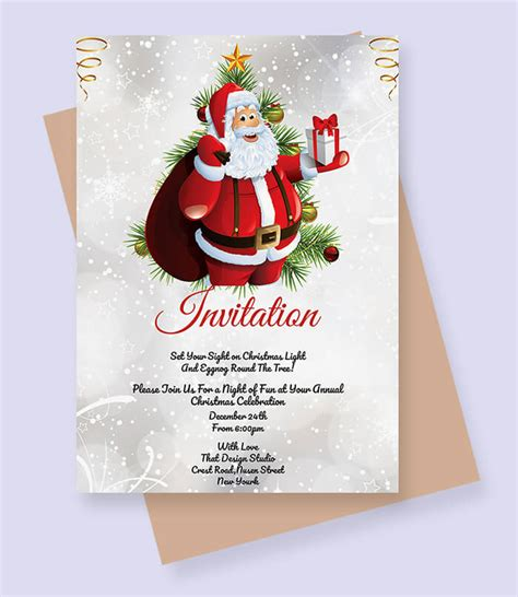 christmas invitation template  coming holiday
