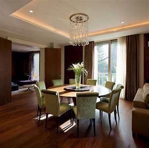12 salles a manger contemporaines avec une table ronde en for Salle À manger contemporaine avec salle a manger bois